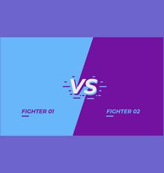 versus screen design battle headline template vector image