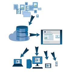 Website database symbols vector