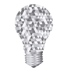Background with light bulb and abstract glass vector