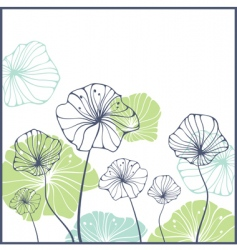 card with cute abstract flowers vector image vector image