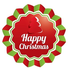 Christmas Greeting sticker Christmas banner vector image