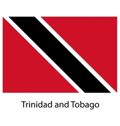 Flag of the country trinidad and tobago vector image