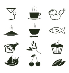 food icons 2 vector image vector image