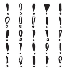 hand painted exclamation marks vector image
