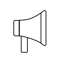 megaphone device icon vector image vector image