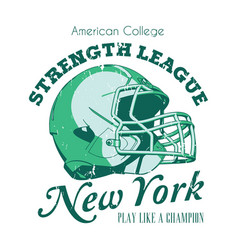 new york strength league poster vector image vector image