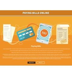 Pay Bills Online vector image vector image