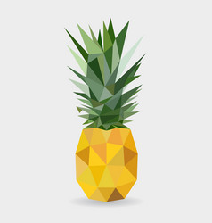 polygonal pineapple fruit isolated vector image vector image