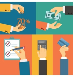 purchase payment credit vector image