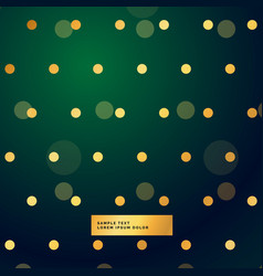 Beautiful green background with polka dots vector