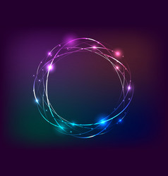 circle neon light banner with free space for text vector image