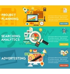 Planning Searching Analytics Advertising Concept vector image vector image