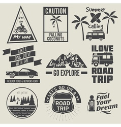 road trip badges vector image vector image