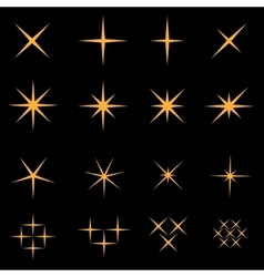 Sparkles icon set vector image vector image