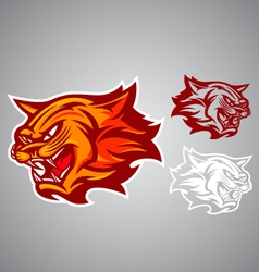 cat red logo emblem vector image vector image
