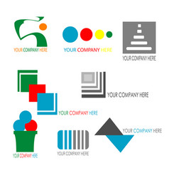 Collection of colorful business logo template vector