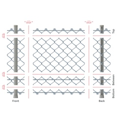 Highly detailed chain-link fence with no gradients vector image vector image