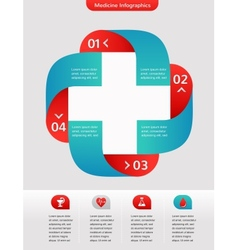 Medical and healthcare background infographic vector image vector image