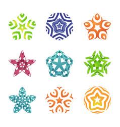 set of colorful editable symbols geometric shapes vector image