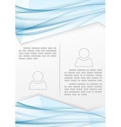 Swoosh wave print brochure template vector image