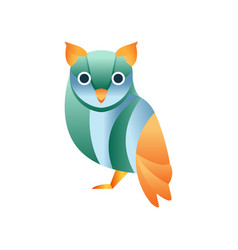 cute owl bird stylized geometric animal low poly vector image vector image