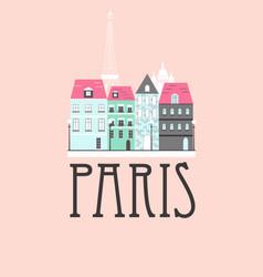 paris travel background vector image vector image