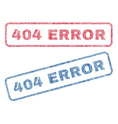404 error textile stamps vector image