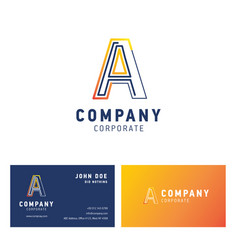 a company logo design with visiting card vector image