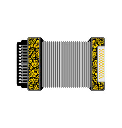 accordion isolated russian national folk musical vector image