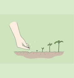 agriculture environment new life concept vector image