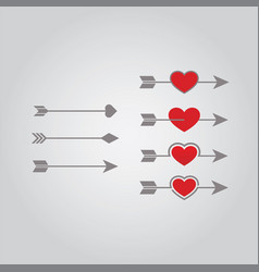 arrow love vector image