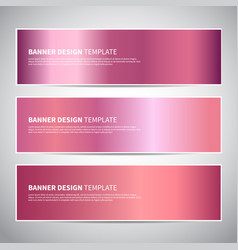 banners rose gold or shiny pink gradient vector image