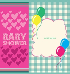 bashower greeting card vector image