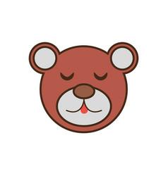 bear cute face kawaii style vector image