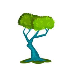 beautiful green tree fantasy nature landscape vector image