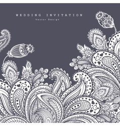 Beautiful Indian floral ornament Wedding vector image