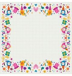 Birthday decorative border vector