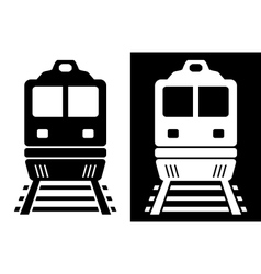 Black and white isolated train vector