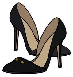 Black high heel shoes vector