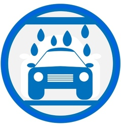 blue sign with car wash image vector image