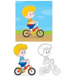 Boy bicyclist vector