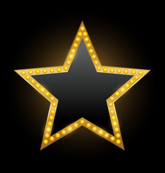 brightly star theater glowing retro golden vector image
