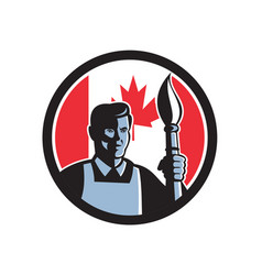 Canadian fine artist canada flag icon vector