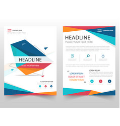 colorful geometric leaflet brochure flyer annual vector image