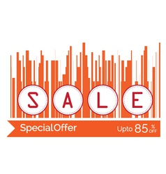 concept of sale word vector image