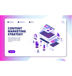 Content marketing video blog content strategy vector