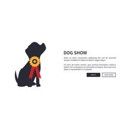 dog show banner with winner of dogs competition vector image