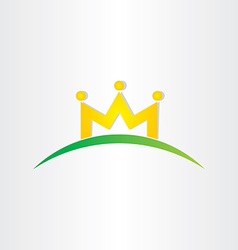 Double letter m crown people icon vector