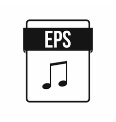 EPS file icon simple style vector