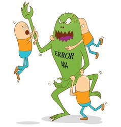 Error 404 monster vector